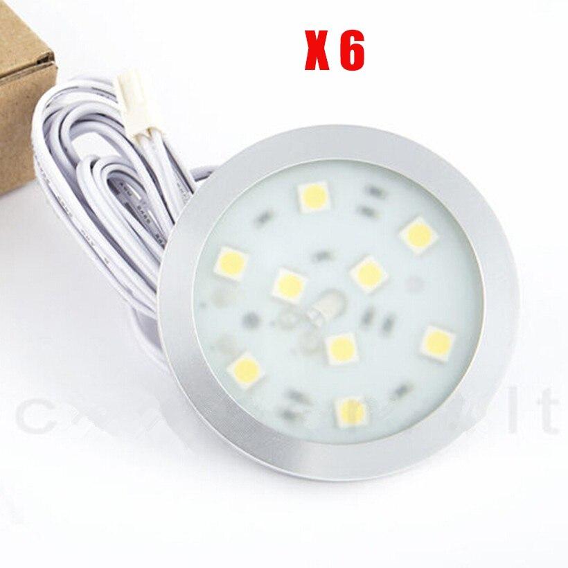 6pcs 12V 2 5W Interior LED Spot Light For Camper Car Van Caravan Boat For VW