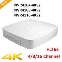 Оригинальный экспортный вариант DH NVR4104-4ks2 NVR4108-4ks2 Smart 1U мини NVR H.265 8mp 4ch/8ch NVR без логотипа