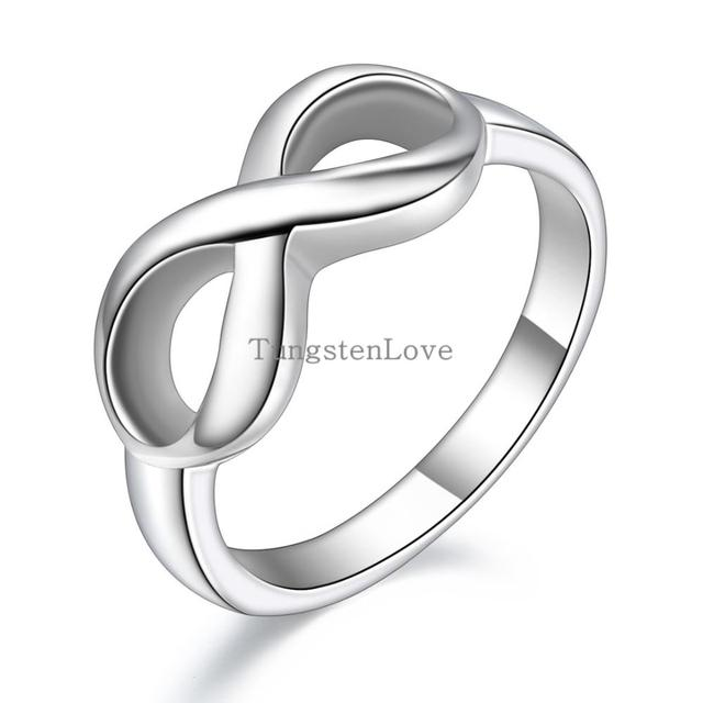 Hot Romantische Rvs Infinity Symbool Liefde Promise Ring Engagement