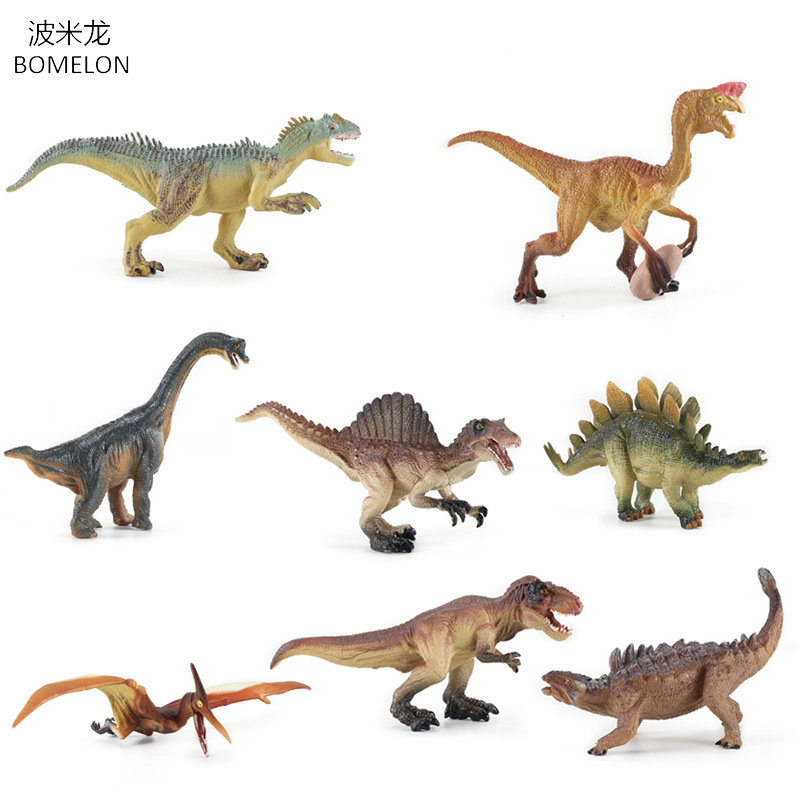 8PCS/set Simulation Solid Dinosaur Toys PVC Collecta Dinosaurs Figures Oviraptor/Pteranodon/ Animals Model Toys For Boys Gifts 12pcs set dinosaurs plastic model children simulation animal solid soft dinosaur action figures toys gift for kids e