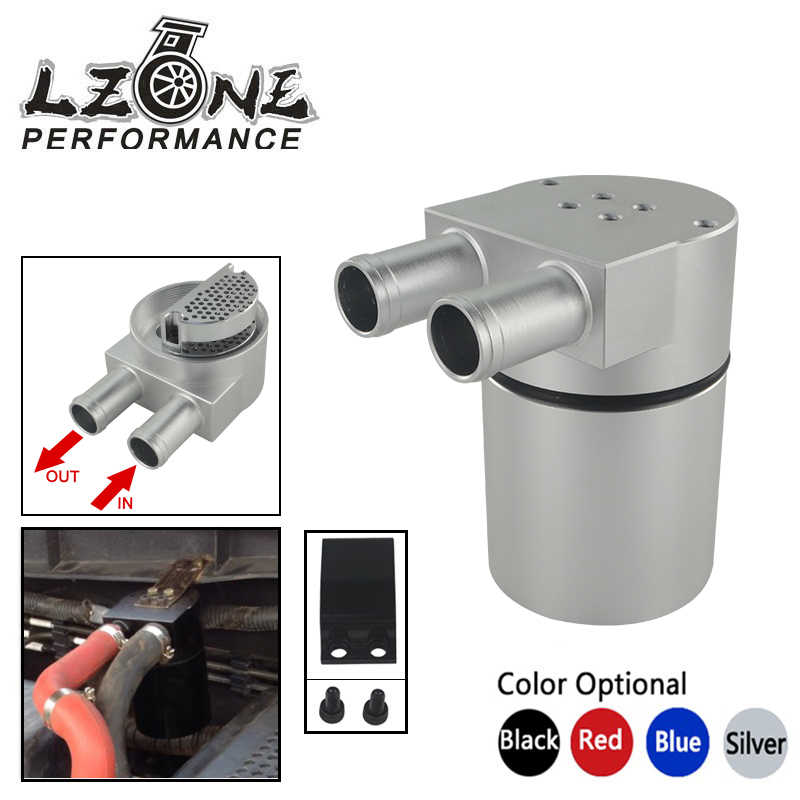 LZONE - Universal Aluminum Alloy Reservoir Oil Catch Can Tank  for BMW N54 335 BLACK SILVER BLUE RED JR-TK60