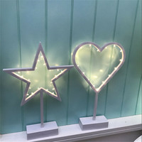Yeni Beyaz Güzel Sevimli Gece Işıkları Noel Ağacı Kalp Yıldız Tarzı Romantik Sıcak Beyaz Masa kızın Odası Tatil Dekorasyon işık
