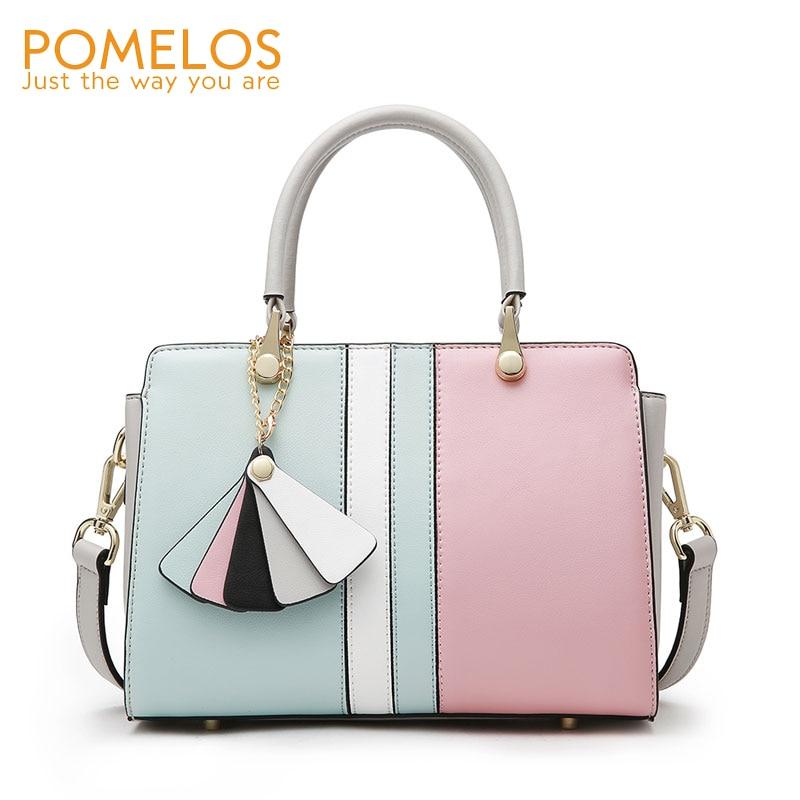 POMELOS Women Bag 2019 Luxury Handbags Bags Designer Split Leather Shoulder Bag Crossbody For Women Ladies