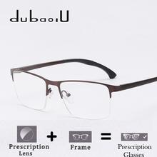 Alloy Prescription Spectacles Men Classic Half Rim Clear Optical Photochromic Progressive Anti Blue Prescription Glasses HA09