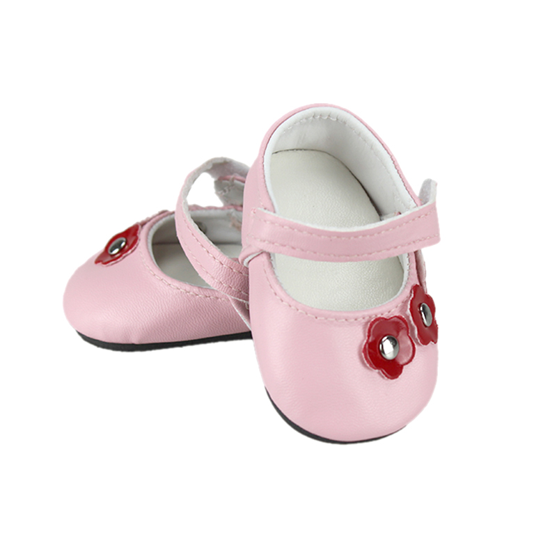 Doll accessories , pink leather shoes  fit 43cm Baby Born zapf,  Children best  Birthday Gift