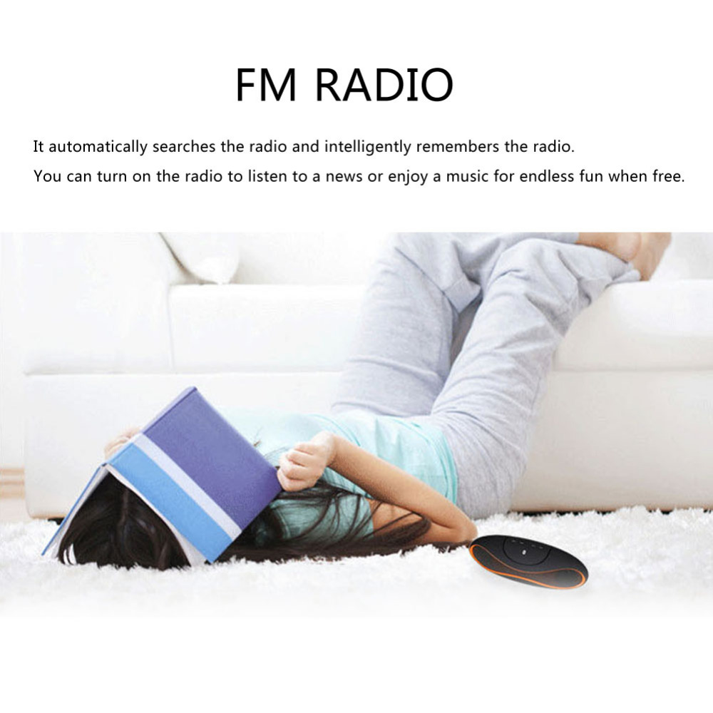 Rugby Ball Portable Bluetooth Speaker Subwoofer HIFI Music Audio Soundbar Handsfree Microphone TF/AUX/USB for phone PC laptop