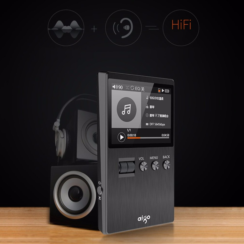 2016 Original HiFi MP3 Player with Speaker Metal APE/FLAC/WAV High Sound  Quality 8GB Entry-level Lossless Music FM
