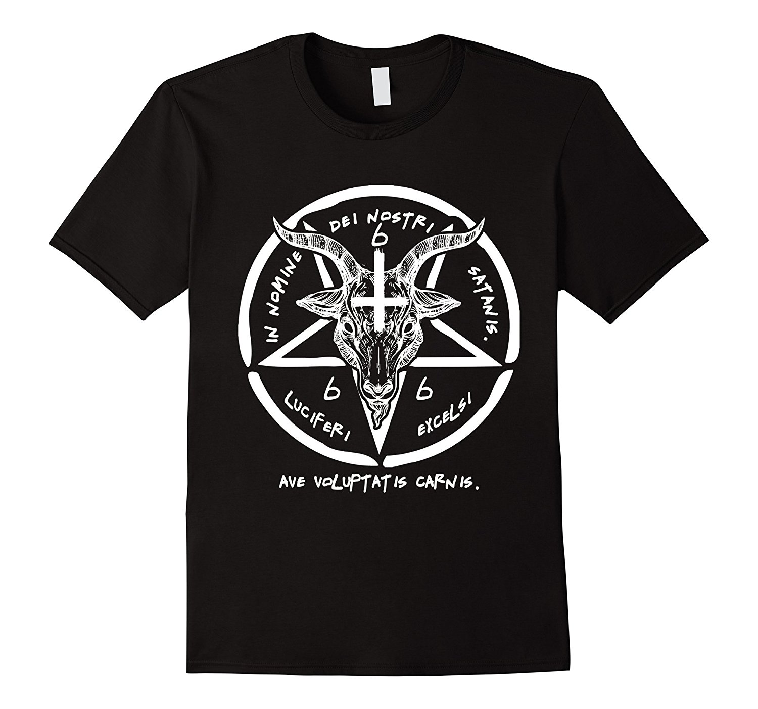 BAPHOMET TSHIRT - SIGIL OF SATAN THE GOAT HEAD GOD SHIRT Mens 100% Cotton Short Sleeve Print Cool Funny T-Shirt Men High Quality