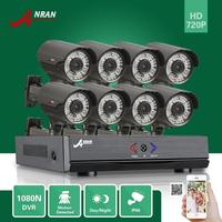 ANRAN 8CH HD 1080N HDMI DVR 8pcs 720P CCTV D N Home Security Camera System