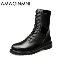 AMAGINMNI 2017 New Shoes Men Winter Boots High Quality Men Boots Winter Snow Warm Casual Shoes