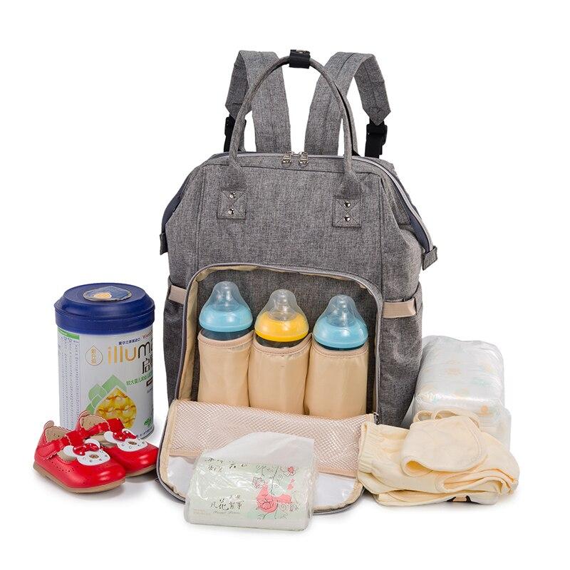 9a698a4999 2018 Fashion Mummy Maternity Nappy τσάντα σακίδιο μεγάλης ...