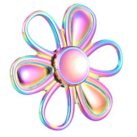 Multi Color Triangle Finger Toy Spinner Sun Flower EDC Hand For Autism/ADHD Anxiety Stress Relief Focus Toys Gift
