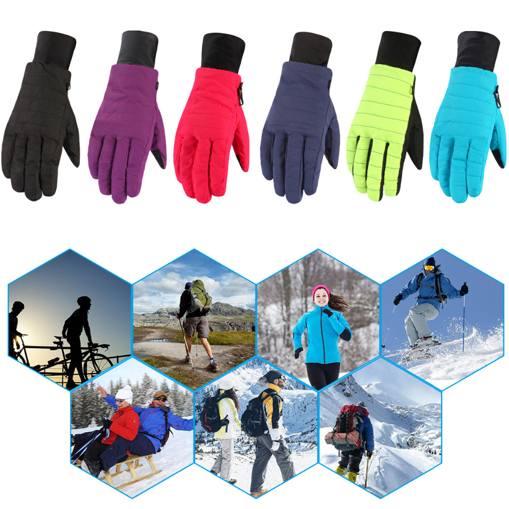 Womens Ladies Waterproof Warm Ski Snow Skiing Snowboard Gloves Winter Thermal