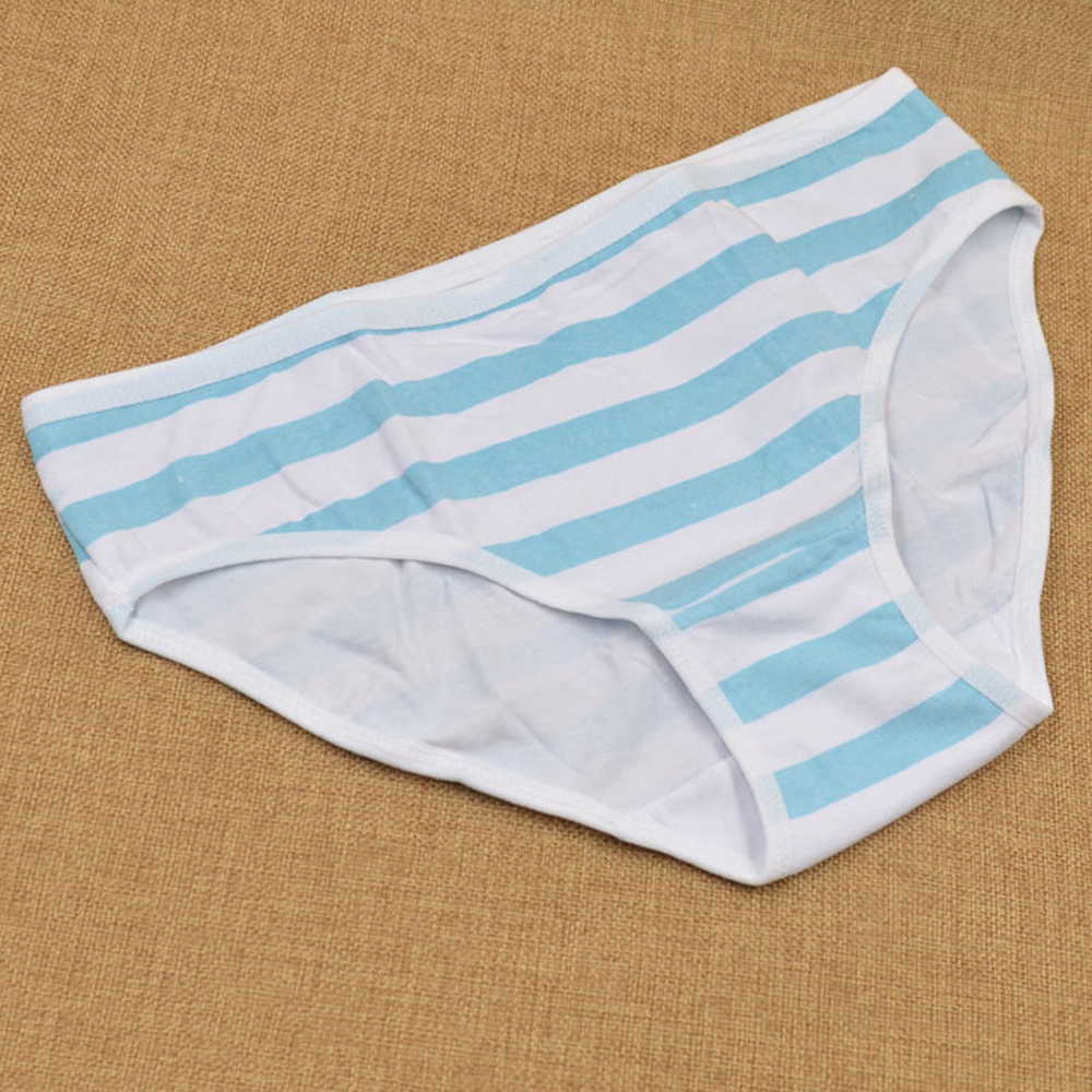 Girls Cotton Briefs Japanese Anime Pink Blue Stripe   Panties   Harajuku Cute Sexy Hatsune Miku Underpants Underwear Cosplay Fashion