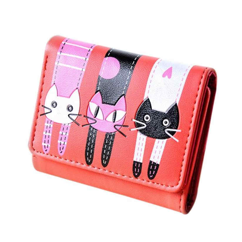 2017 Wholeworld market fashion Clutch handbag wallet Women Cat Pattern Coin Purse Short Wallet Card Holders Handbag A 4 2017 wholeworld market fashion clutch handbag wallet women cat pattern coin purse short wallet card holders handbag a 4