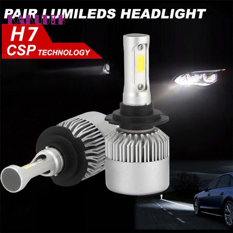 2017 car styling H7 120W LED Headlight KIT High Power Replace Halogen Xenon 12000LM may03