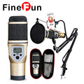 FineFun M5 Mini Microphone Portable Handheld MIC For Mobile Phones Computer Recording Included With Cantilever Bracket