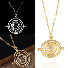 Fashion Jewelry Time Turner Hourglass Zinc Alloy Necklaces Pendant For Women&Men Jewelry