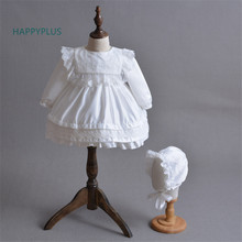 Bow 1 Year Birthday Baby Girl Dresses For Christening Gown