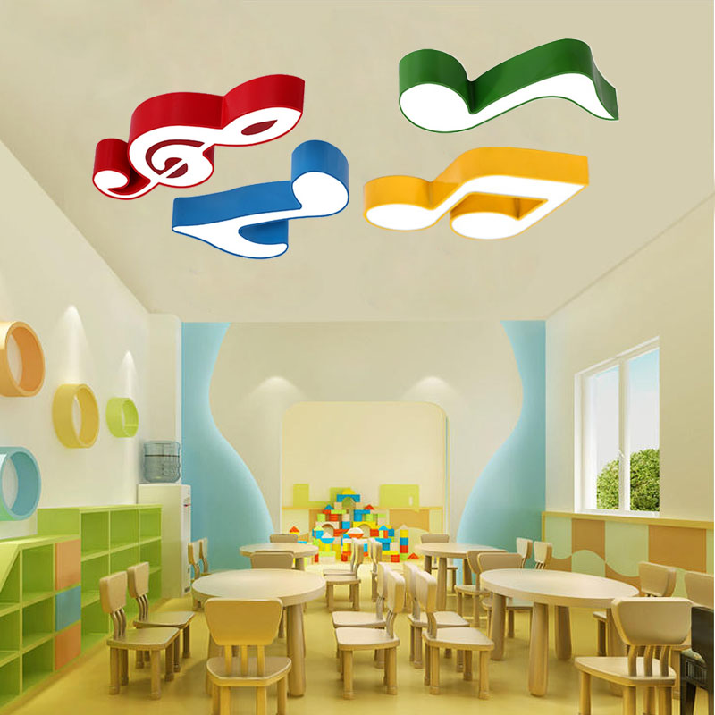 Color musical ceiling lights Kids room led ceiling lamp Creative cartoon music classroom kindergarten Dance room Light fixture