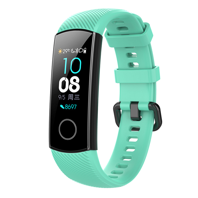 Silicone Wrist Strap For Huawei Honor Band 4 Smart Sport Bracelet Strap For Huawei Honor Band 5 Band4 Standard Version Film 4