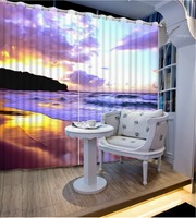purple curtains Landscape Scenery Beauty Digital Photo Printing Blackout 3D Curtains for Living Room Bedding Room Hotel