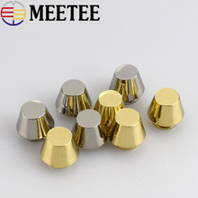 10pcs Meetee Metal Oval Combined Button Plating Tacks Nail-face Screw Buckle Box Bag Hardware Accessories Handbag F3-13