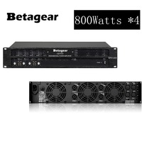 Betagear 4 Channel Power amplifier 800w *4 Powerful Amplifier Professional Stage Audio System For Bar,Wedding,Church & Stadium