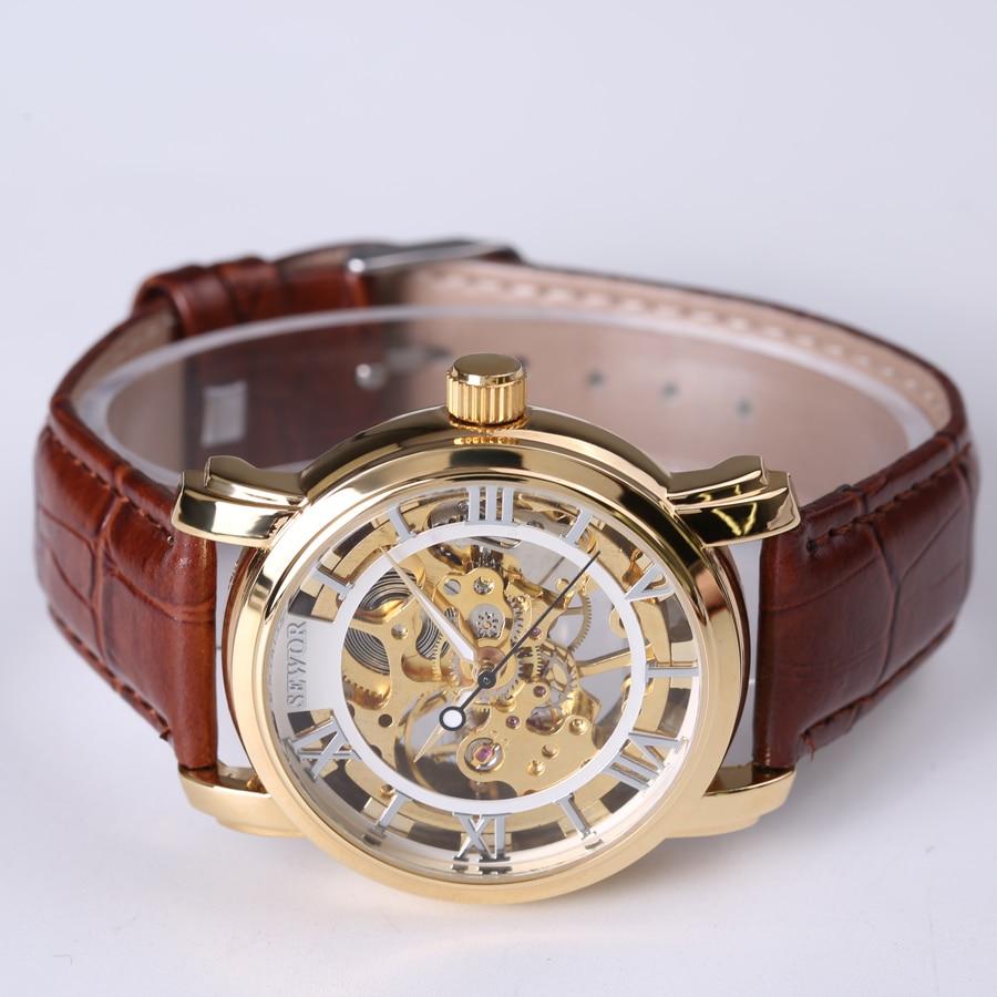 lüks marka moda kişi skeleti üzüm saatı mexaniki mexaniki - Kişi saatları - Fotoqrafiya 3