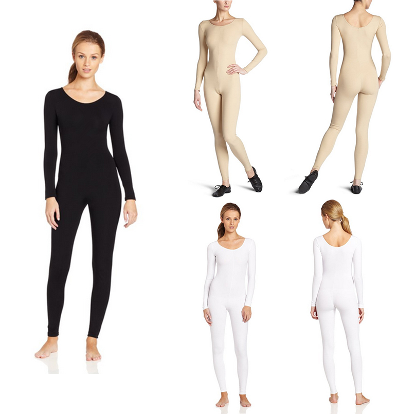 24hours 2018 New Black Zentai Slim Fit Trendy Spandex Jumpsuit for Women Rush order/Same day shipping/24-hour ship-out service