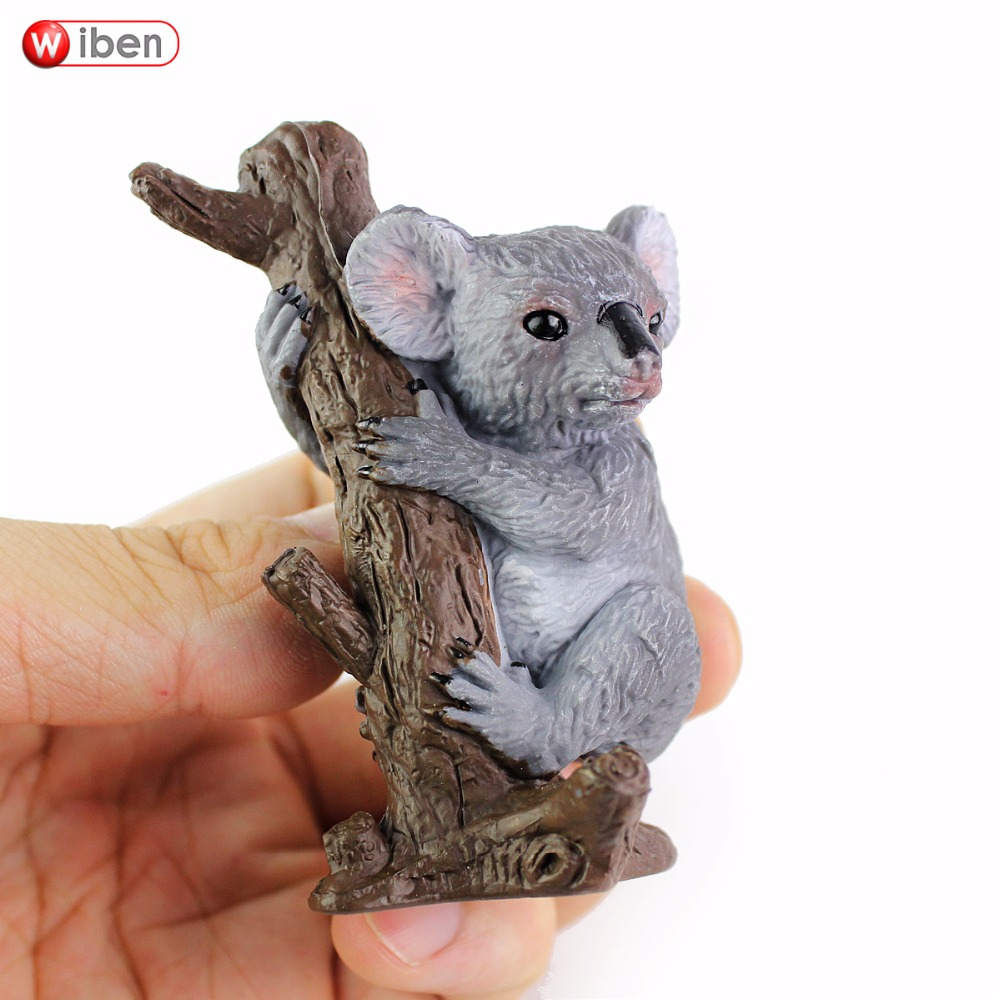 Wiben Hot toys Koala Bear Solid PVC High Quality Simulation Animal Model Action & Toy Figures Educational for Boys Gift recur toys high quality horse model high simulation pvc toy hand painted animal action figures soft animal toy gift for kids