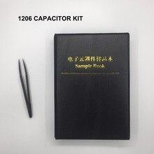 משלוח חינם 2000pc 1206 smd קבלים סט 1206 קבלים מבחר מדגם ספר עבור קבלים ספר 80 ערך * 25 מחשב קבלים ערכת