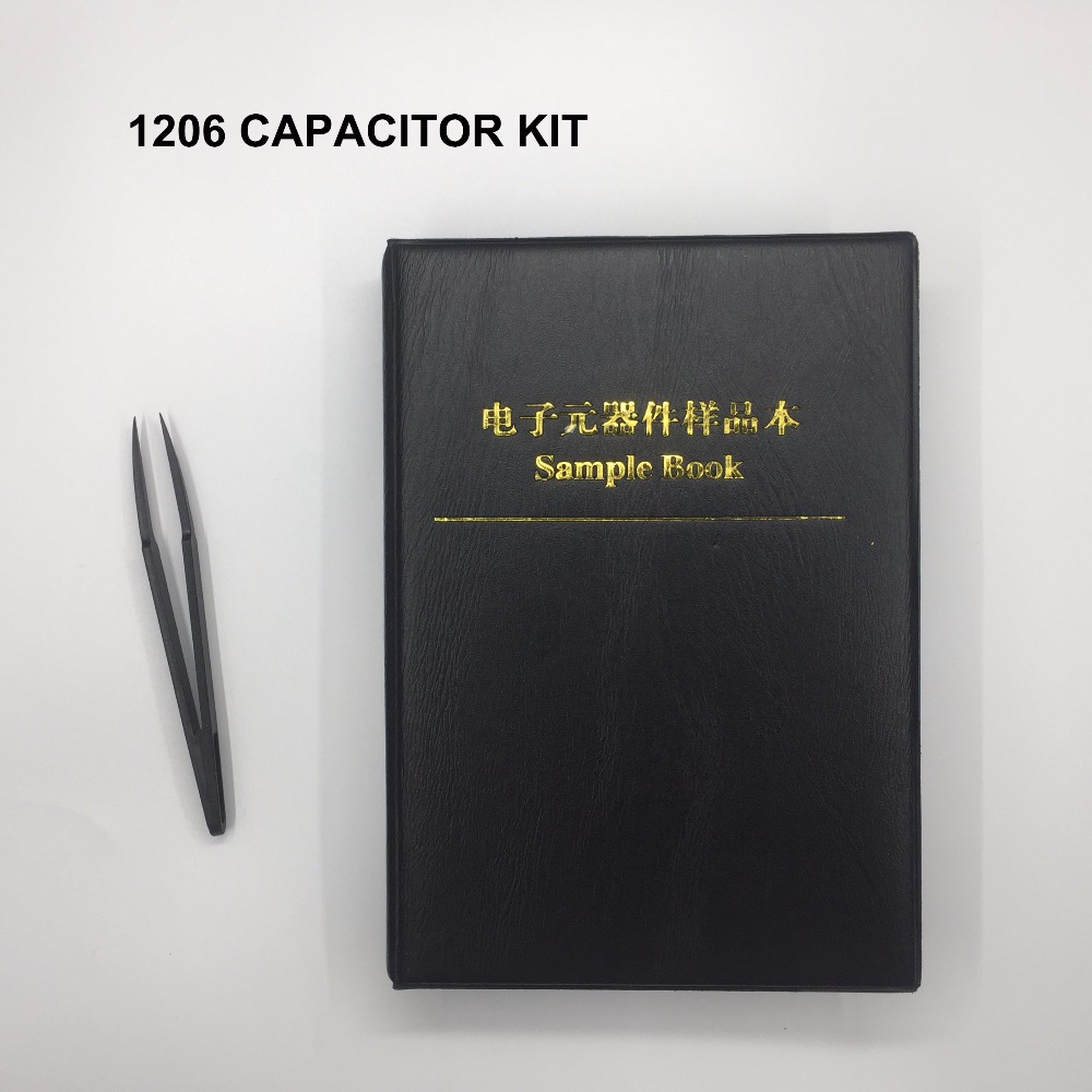 Free Shipping 2000pc 1206 smd capacitor set 1206 capacitor assortment sample book for capacitor book 80value*25pc capacitor kit image
