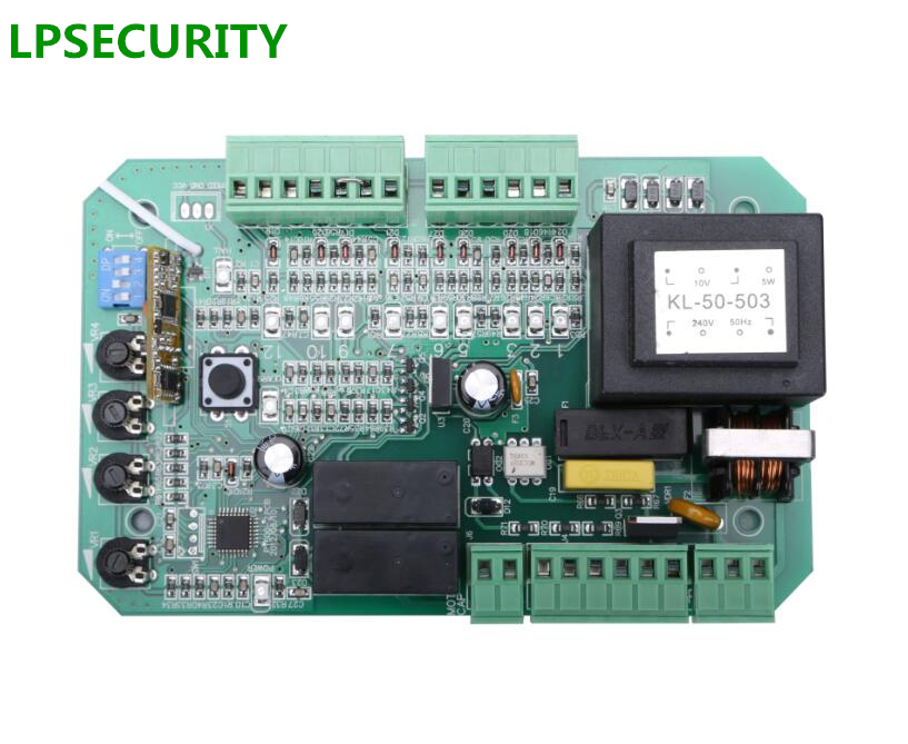 LPSECURITY sliding gate opener motor PCB controller circuit board electronic card PY600AC soft