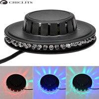 A todo Color de 5 W RGB LED de La Lámpara Inteligente de Sonido y Control de Luz Automático Rotating RGB Led del disco de Dj Etapa de Iluminación 220 V para Bar KTV Iluminación