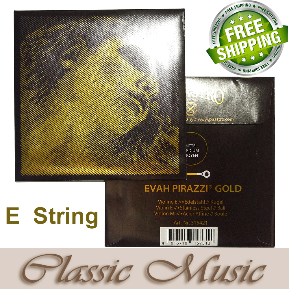 Free shipping Evah Pirazzi Gold Violin String E string 315421 made in Germany