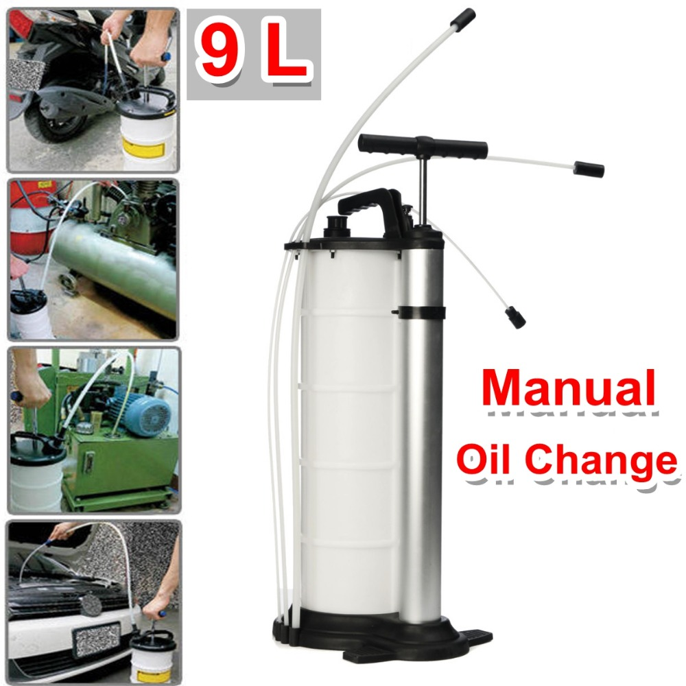 9L Vacuum Oil Fluid Suction Extractor Fuel Pump Car Tank Manual Change Transfer