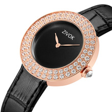 Nieuwe Mode Zivok Merk Rose Goud Lederen Horloges Vrouwen dames casual dress quartz horloge reloj mujer