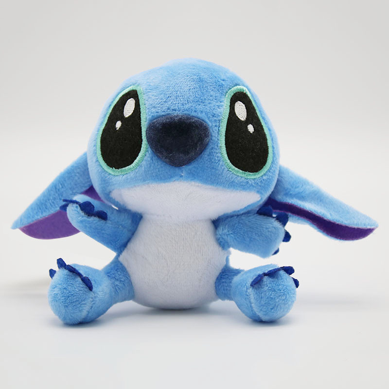Plush Toys Dolls With Sucker 10cm Lilo Stitch Keychain Soft Stuffed For Kids Baby Birthday Gift J0015