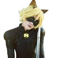 Kids Boy Miraculous Ladybug Costume Cat Noir With Mask Ladybug Cat Cosplay Costume With Mask And