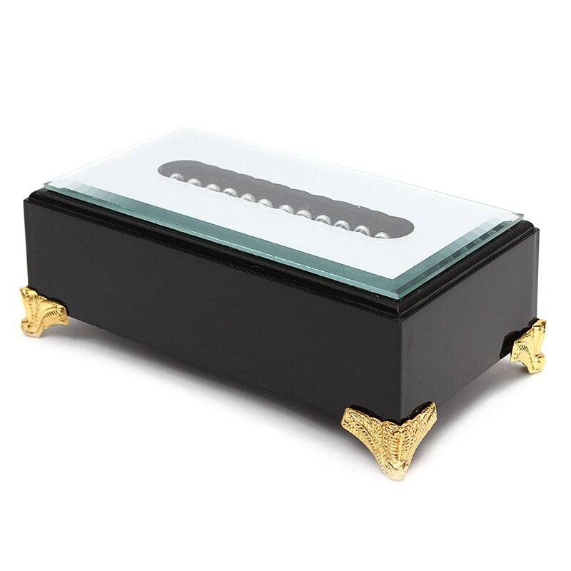 KiWarm Newest 12 LED White Light Stand Base 3D Display Plastic Black Base for Crystal Glass Art Work Home Room Desk Decor Crafts
