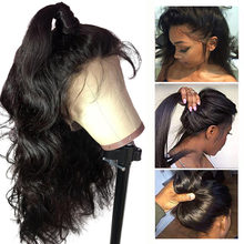 Ossilee – perruque Full Lace wig naturelle Remy, cheveux humains ondulés, Baby Hair, pre-plucked