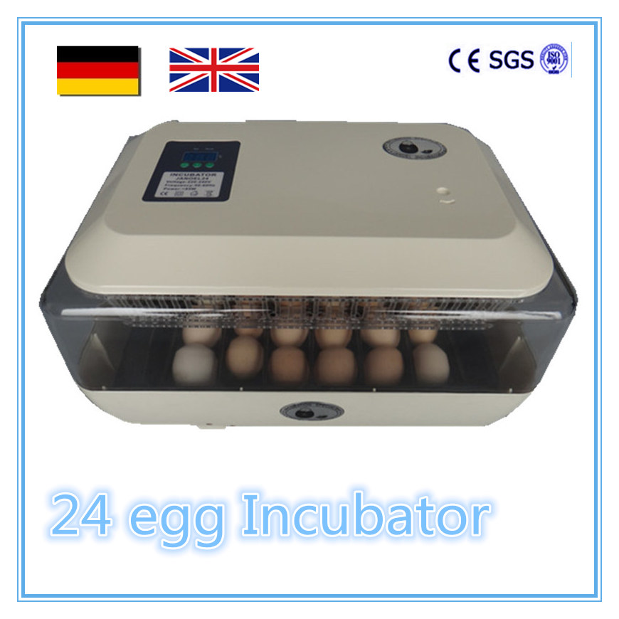 Fully Hatchery Machine Mini 24 Chicken Automatic Egg Incubators top sale household farm egg incubators 24 egg incubators for led display turner for sale