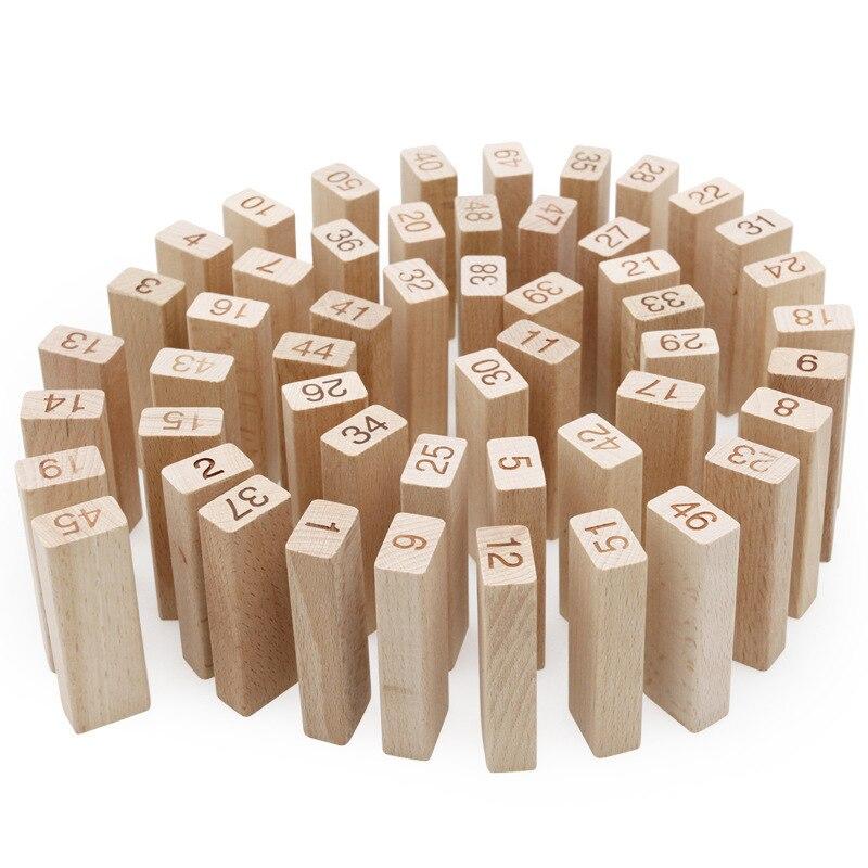 Jouet de bloc de dominos mathématiques en bois pour enfants, Double face, compte mathématique, carte d'apprentissage, jeu de mathématiques, outil d'enseignement
