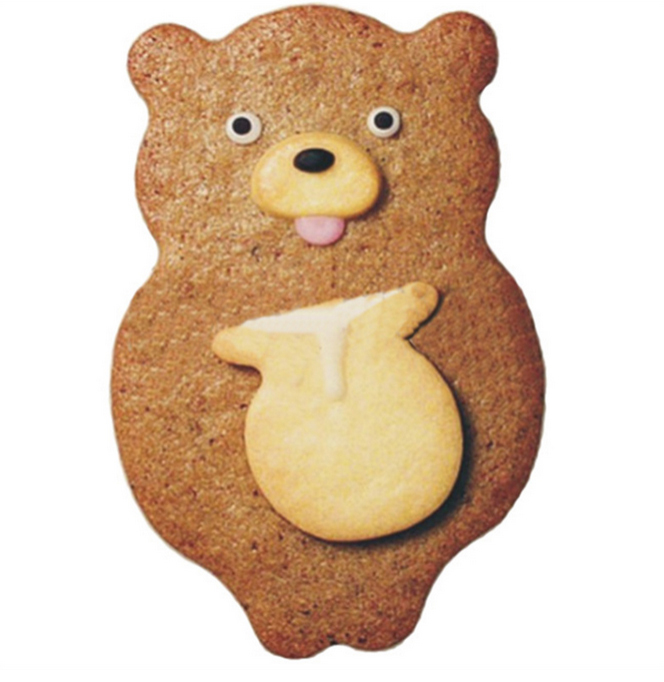 Cartoon honeypot bear stainless steel cookie cutter ~ forest animal series biscuits fondant cutting mold