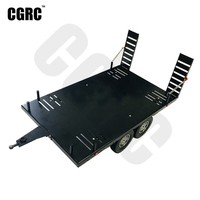 Double Axis Metal Alloy Flatbed Trailer 420mm*250mm For 1/10 RC Crawler TRX4 RC4WD D90 SCX10 VS4 10 JIMNY GEN8 Wraith