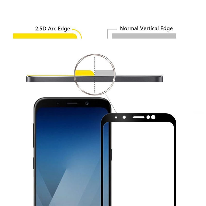 Image 2 - GerTong Screen Protector For Samsung Galaxy A8 2018 A530F Full Cover Tempered Glass For Samsung A8 Plus 2018 A730F Safety Glass-in Phone Screen Protectors from Cellphones & Telecommunications