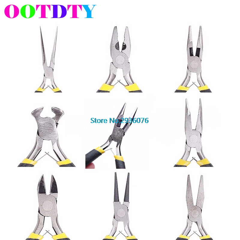 8 style Jewellery Making Tools Beading Pliers Round Flat Wire Side Cutters Kit APR13