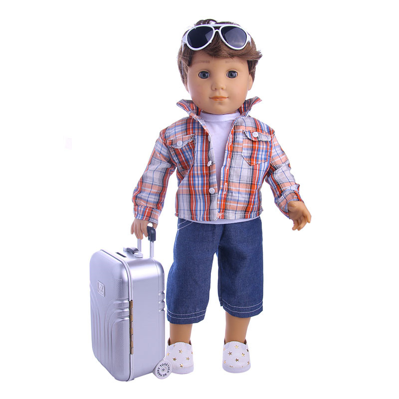 Travel Set Suitcase Gray Suitcase For 18 inch American Girl Doll,our generation of dolls,the best Christmas gift(only Suitcase) our generation dolls кукла эйприл 46 см our generation dolls