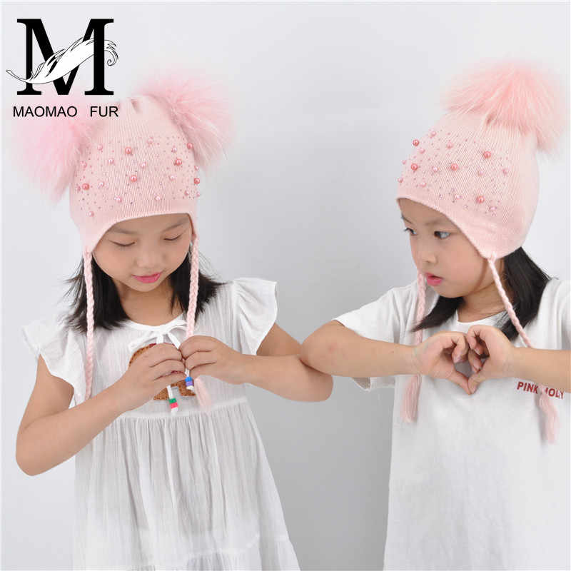 ... Knitted Hat And Scarf Set Children  authentic bcd0f ed5fb ... Kids Warm  Winter Caps Double Fur Pom Pom Beanie Wool  vast selection d94c9 5610b Funny  Cat ... fd2f6b407b60